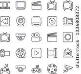 thin line icon set   ticket... | Shutterstock .eps vector #1336808372