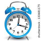 alarm clock | Shutterstock .eps vector #133681175