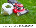lawn mover on grass | Shutterstock . vector #1336828835