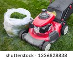 lawn mover on grass | Shutterstock . vector #1336828838