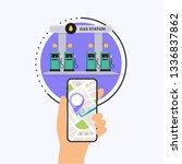 hand holding mobile smart phone ...   Shutterstock .eps vector #1336837862