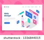 web design concept  man... | Shutterstock .eps vector #1336844015