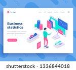 business statistics concept ... | Shutterstock .eps vector #1336844018