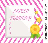 writing note showing career... | Shutterstock . vector #1336844225