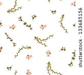 Stock photo seamless floral pattern on a white background 133685156