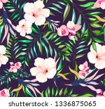 seamless tropical pattern with... | Shutterstock .eps vector #1336875065