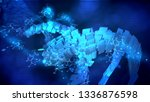 artistic 3d illustration of a... | Shutterstock . vector #1336876598