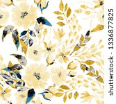 watercolor seamless pattern... | Shutterstock . vector #1336877825