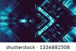 abstract background. futuristic ... | Shutterstock . vector #1336882508