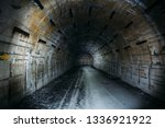 long underground tunnel or... | Shutterstock . vector #1336921922