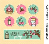 garden party cute collection.... | Shutterstock .eps vector #133692392