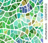 abstract vector stained glass... | Shutterstock .eps vector #1336935212