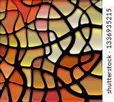 abstract vector stained glass... | Shutterstock .eps vector #1336935215