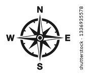 compass vector icon | Shutterstock .eps vector #1336935578