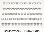 decorative border elements for... | Shutterstock .eps vector #133693586