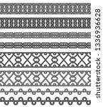 seamless black and white... | Shutterstock .eps vector #1336936628