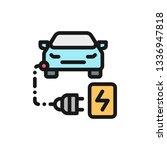 eco car color line icon. car... | Shutterstock .eps vector #1336947818