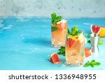 grapefruit and mint gin tonic... | Shutterstock . vector #1336948955