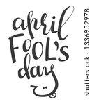 vector lettering phrase april... | Shutterstock .eps vector #1336952978