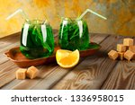 refreshing carbonated drink... | Shutterstock . vector #1336958015