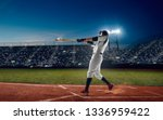 baseball player at professional ... | Shutterstock . vector #1336959422