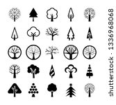 tree symbols vector pack  | Shutterstock .eps vector #1336968068