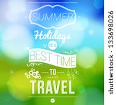 summer holidays poster with... | Shutterstock .eps vector #133698026