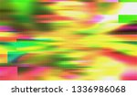 abstract glitch digital color... | Shutterstock .eps vector #1336986068