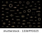 gold vintage decor elements and ... | Shutterstock .eps vector #1336993325