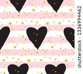 cute brush heart paint seamless ... | Shutterstock .eps vector #1336994462