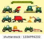 flat set agricultural machinery ... | Shutterstock .eps vector #1336996232