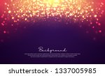 luxurious bokeh glitter circle... | Shutterstock .eps vector #1337005985