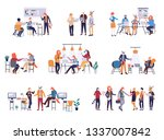 colorful set in flat cartoon... | Shutterstock .eps vector #1337007842