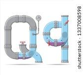 pipe letter. alphabet in... | Shutterstock .eps vector #1337008598