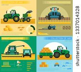 flat banner set collection of... | Shutterstock .eps vector #1337014328