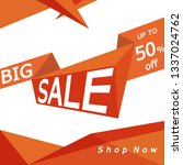 sale banner with drop shadows....   Shutterstock .eps vector #1337024762