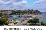 Wide Shot Of A Small Harbour I...