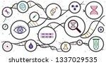 vector illustration of dna... | Shutterstock .eps vector #1337029535