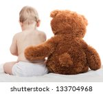 Baby And Teddy Bear Great...