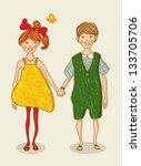 birthday  valentine love card.... | Shutterstock . vector #133705706