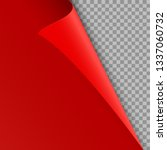 red curled corner of the page.... | Shutterstock .eps vector #1337060732