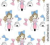 hand drawn cute pattern for t... | Shutterstock .eps vector #1337062145