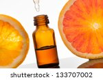 essential oil with oranges | Shutterstock . vector #133707002