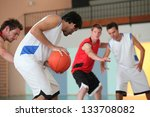 basketball player dribbling | Shutterstock . vector #133708082