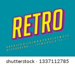 flat retro font effect with... | Shutterstock .eps vector #1337112785