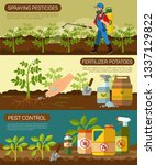 set fertilizer potatoes and... | Shutterstock .eps vector #1337129822