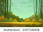 forest background. illustration ... | Shutterstock . vector #1337130458