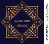 luxury royal pattern tile... | Shutterstock .eps vector #1337136902