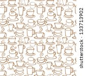 coffee icons seamless pattern | Shutterstock .eps vector #133713902