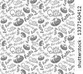 easter hand lettering... | Shutterstock .eps vector #1337140412